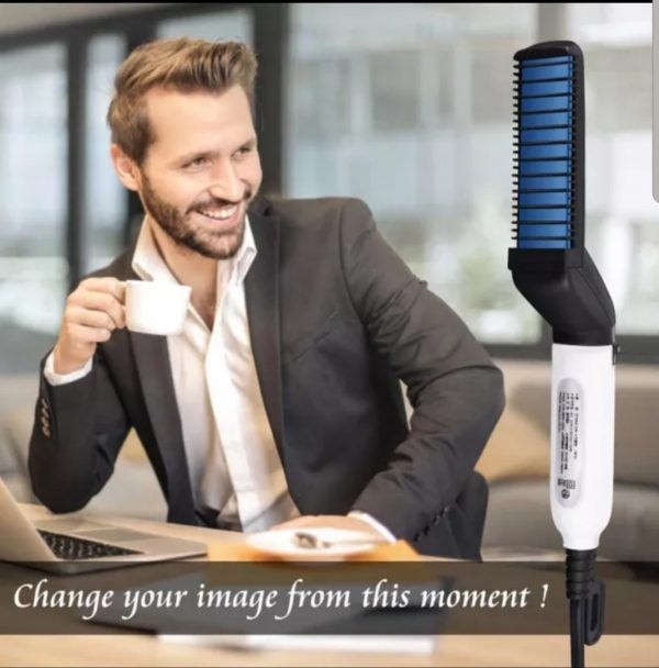Multifunction Men Hair Beard Straightener