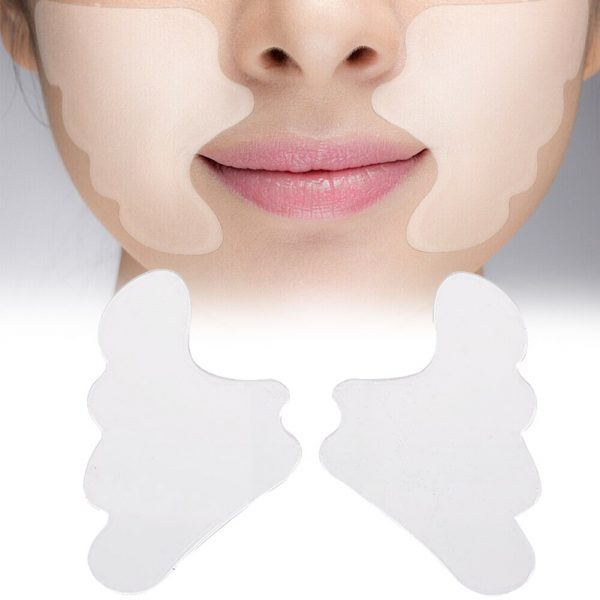 2-Pcs-Stickers-Lifting-Silicone-Cheek-Patch-Reusable-Portable-Practical-Transparent-Forehead-Anti-Wrinkle-Pad-Mask